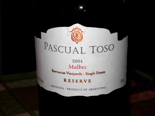 Pascual Toso Reserve 2004