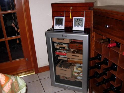 Andy U0026 39 S Humidor  Avanti Wine Cooler Turned Humidor